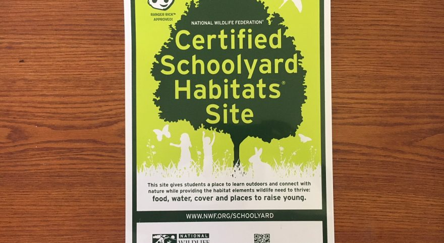 Learning in a National Wildlife Certified Habitat